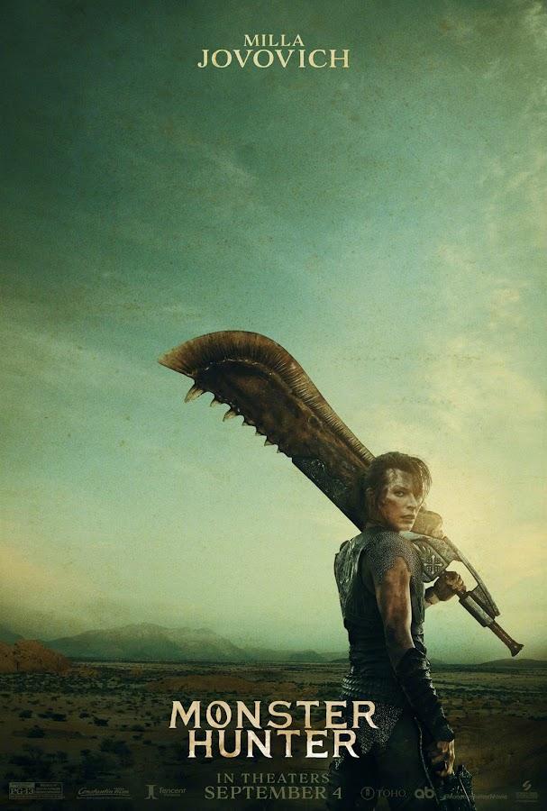 monster hunter teaser poster ft. milla jovovich capcom constantin films screen gems sony pictures tencent