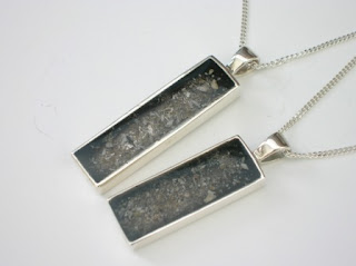 Sterling silver rectangular pendants for ashes (suitable for a man)