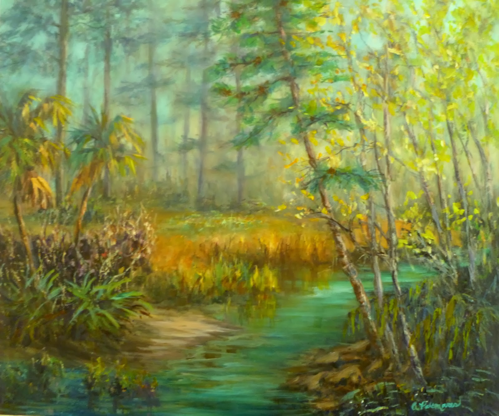 Marsh painting of Jekyll Island