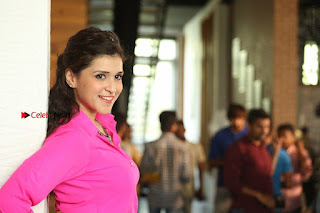 Actress Mannar Chopra in Pink Top and Blue Skirt at Rogue movie Interview  0237.JPG
