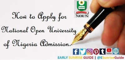 How to Apply for National Open University of Nigeria Admission
