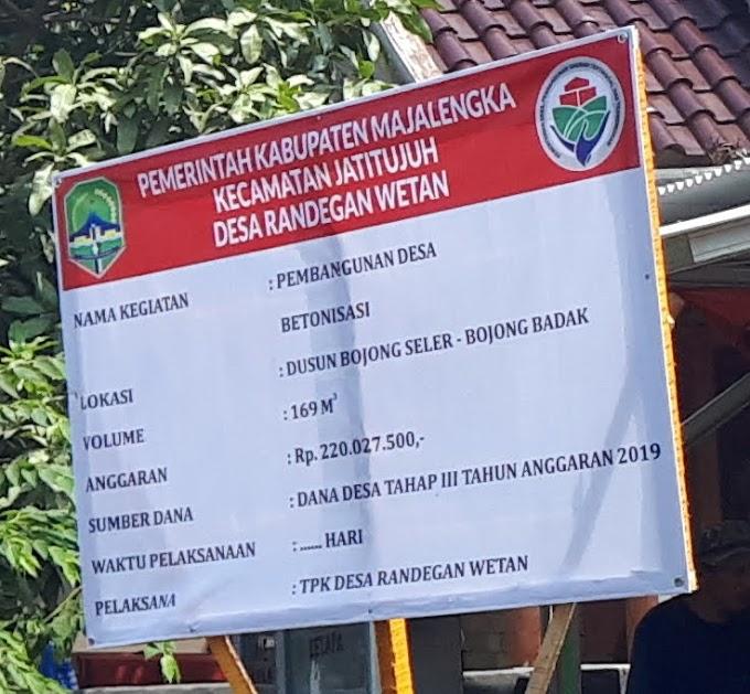 Pemerintah Desa Randegan Wetan Disinyalir Makan Anggaran Berm