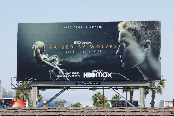 Raised by Wolves HBO Max billboard