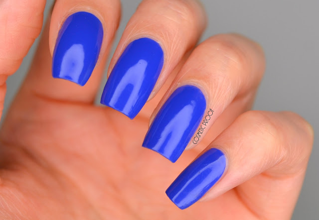 CND Vinylux Blue Eyeshadow Swatch Review