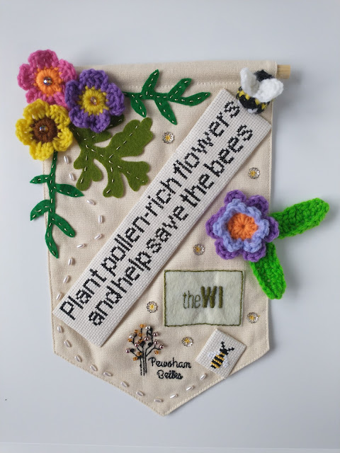 WI banner for Pewsham Belles WI re growing pollen rich flowers for the bees