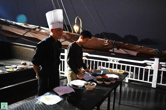 Curso de cocina en Bhaya Classic Cruises