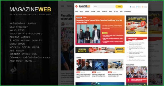 Magazine-Web-blogger-template