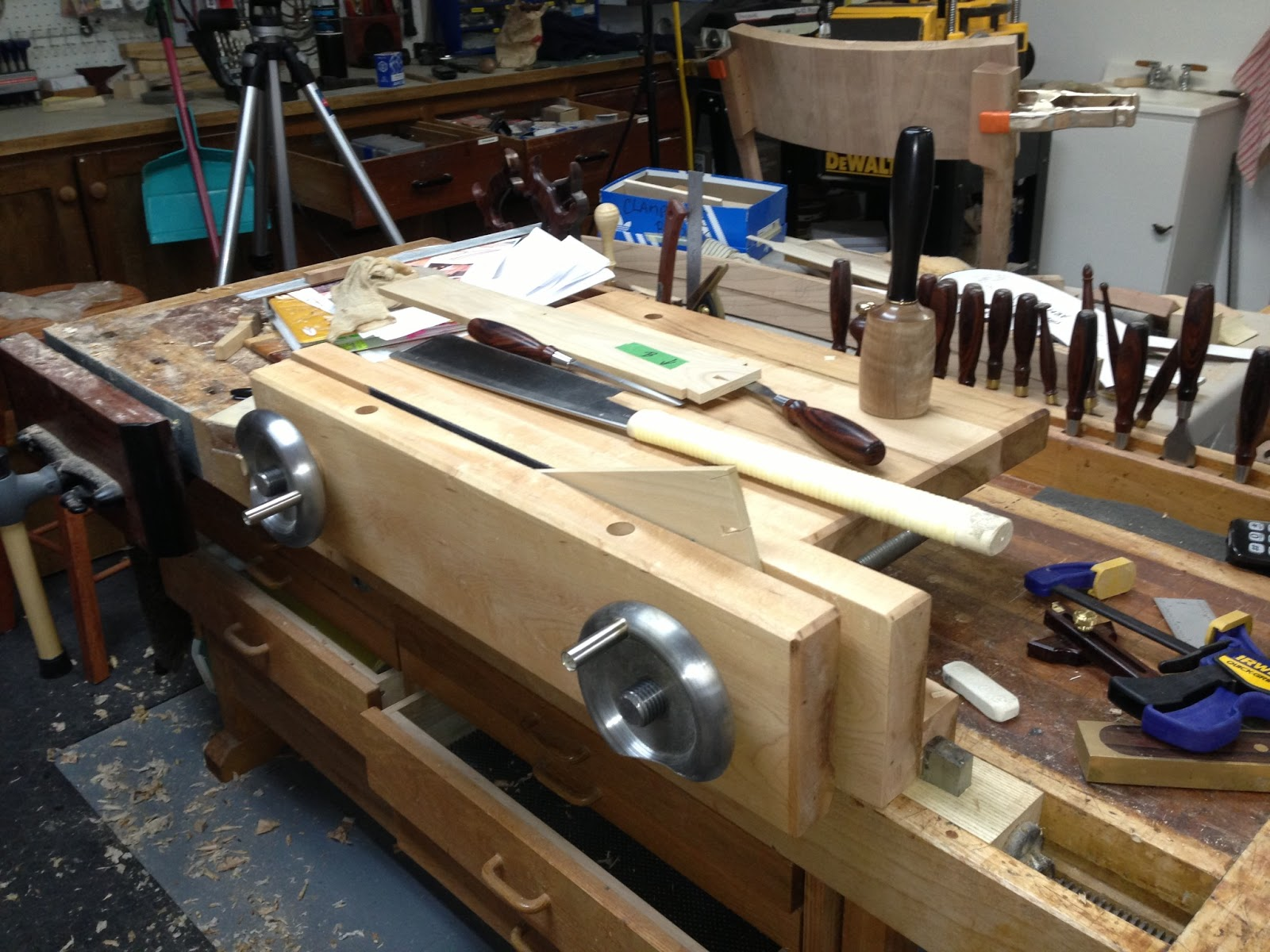 Rich's Woodcraft: Hand Tool Bench-on-Bench (aka Moxon Vise)