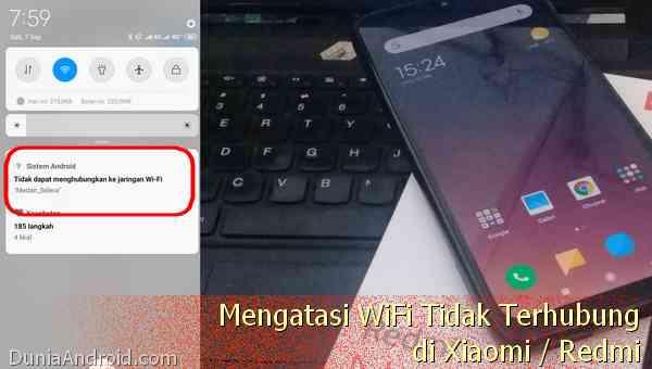 WiFi Xiaomi gagal terkoneksi salah otentifikasi