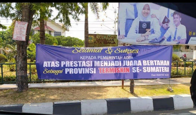 Heboh, Spanduk Sindiran 'Selamat Aceh Provinsi Termiskin' Terpasang di Sejumlah Lokasi