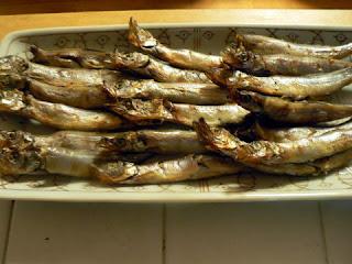 酒の肴 焼き魚 シシャモ焼き