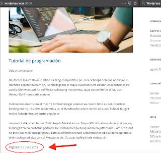 Wordpress: cómo dividir el contenido de una entrada con paginación