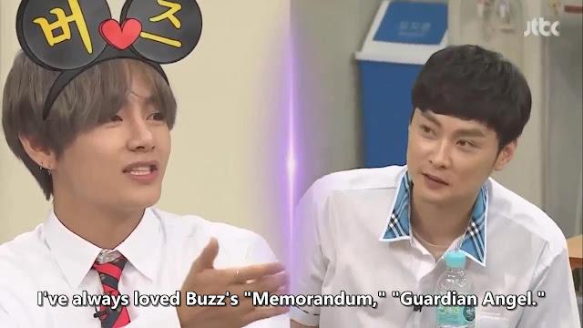 V BTS menyebutkan lagu-lagu Buzz yang disukainya (Knowing Brothers episode 94)