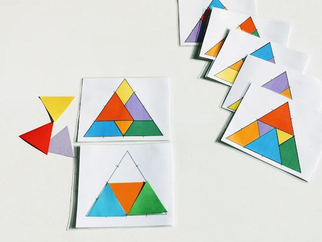 na zdjęciu karta z wybranym wzorem i początek odwzorowanego układu, z tyłu leży reszta kart z wzorami
