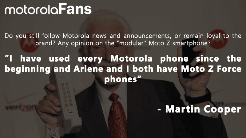 Motorola Fans Exclusive Interview With Martin Cooper Motorola Lovers