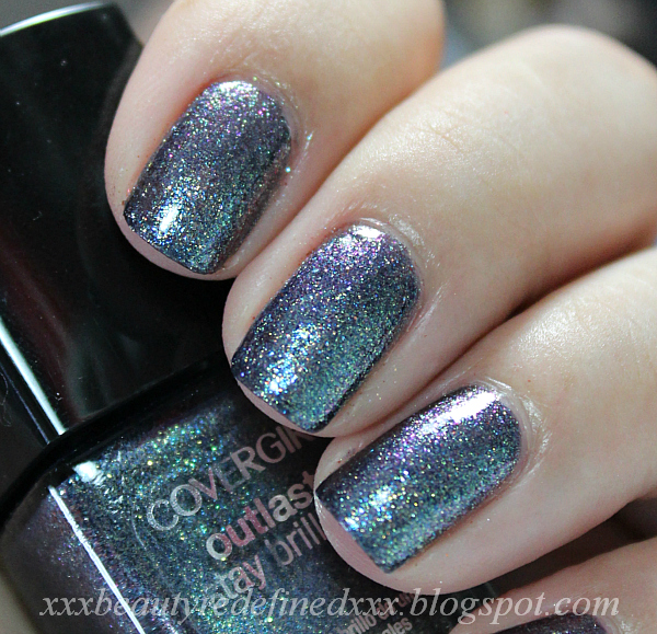 Beautyredefined By Pang Covergirl Outlast Stay Brilliant Nail Polish Swatch Midnight Magic