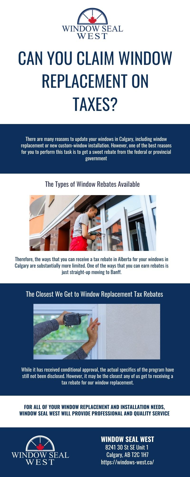 Can You Claim Window Replacement on Taxes? #infographic
