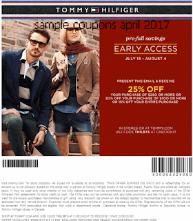 Tommy Hilfiger coupons april 2017