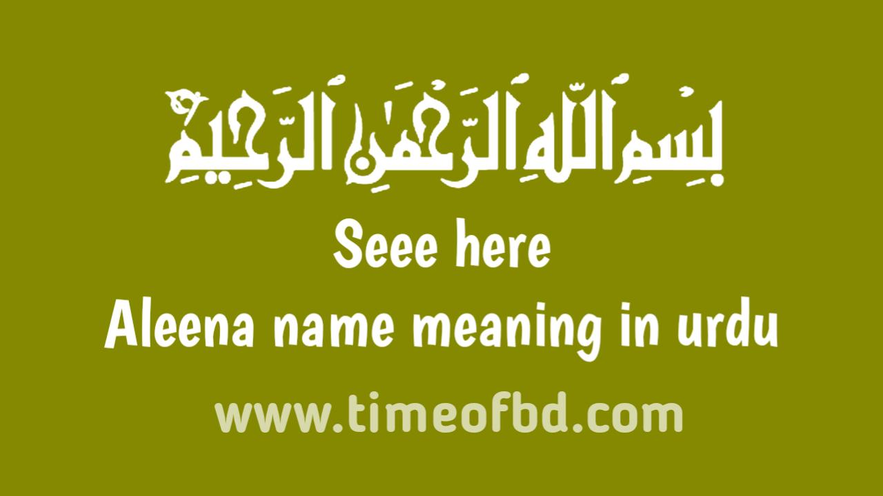 Aleena name meaning in urdu, ااردو میں اسم الینا نام کا مطلب ہے
