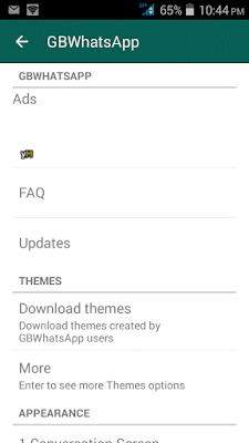 GBWhatsApp Plus v4.25 custom theme