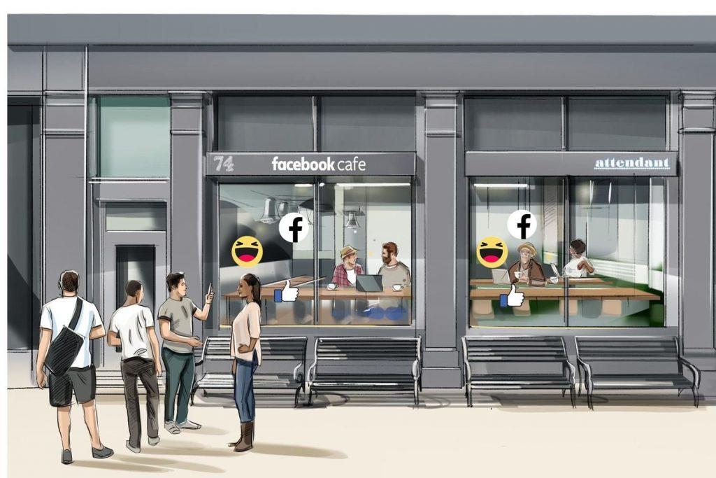 مقاهي خاصه بالفيس بوك في بريطانيا نهاية الشهر الحالي