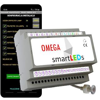 Inteligentny sterownik oświetlenia LED schodów z aplikacją na smartfon Android Bluetooth