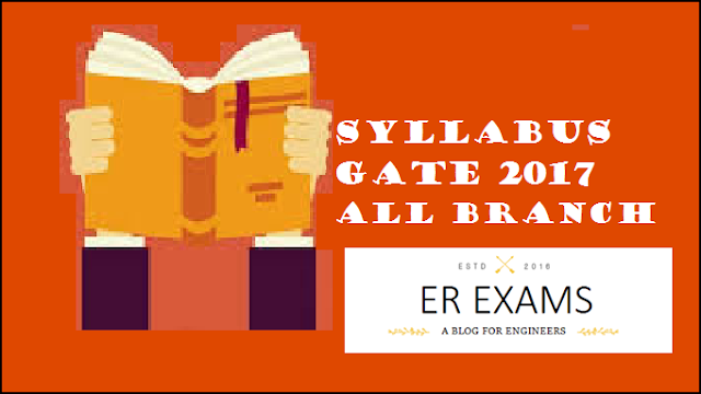 Gate 2017 update syllabus all engineering branches