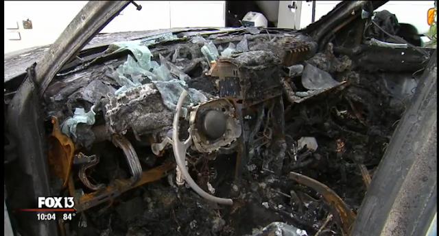 Un Galaxy Note 7 explota y destruye un Jeep