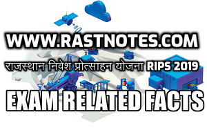 RIPS - 2019 Rajasthan Important Facts and Rules in hindi