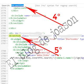 Shortcodes Blogger al estilo de WordPress buscamos b:section