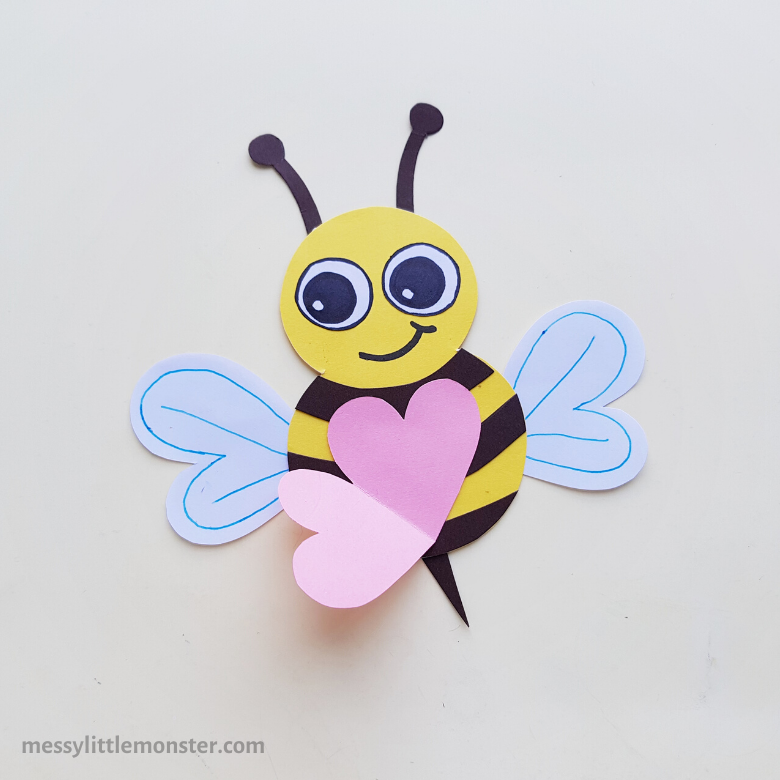 Valentine's day craft for kids - Bee mine card