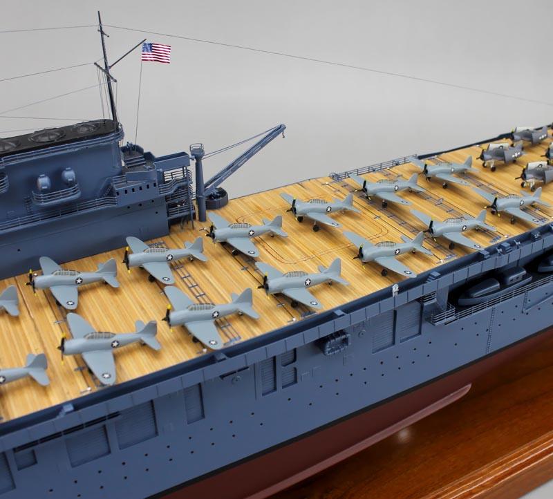 USS Enterprise (CV-6) August 1942 era Aircraft Carrrier ...