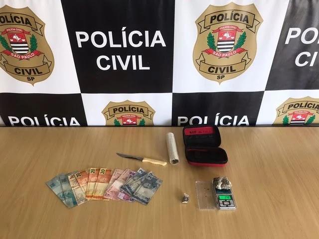 Polícia Civil identifica depósito de drogas e prende responsável pela distribuição de drogas em Registro-SP