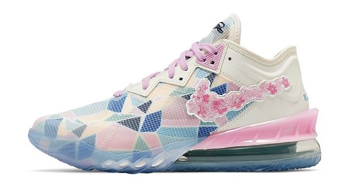 "Atmos Nike LeBron 18 Low ""Sakura"" Cherry Blossom Edition"