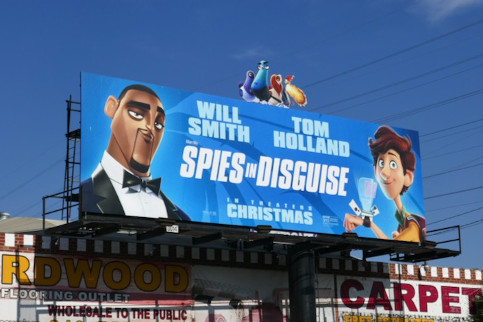 Spies in Disguise cut-out billboard