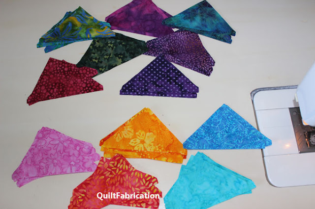 different colored triangles