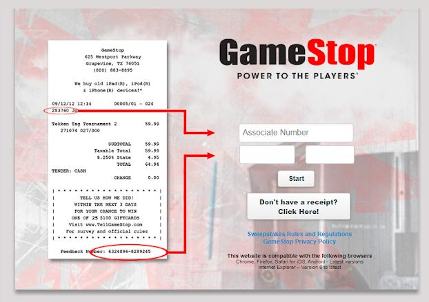 Gamestop Guest Review Survey