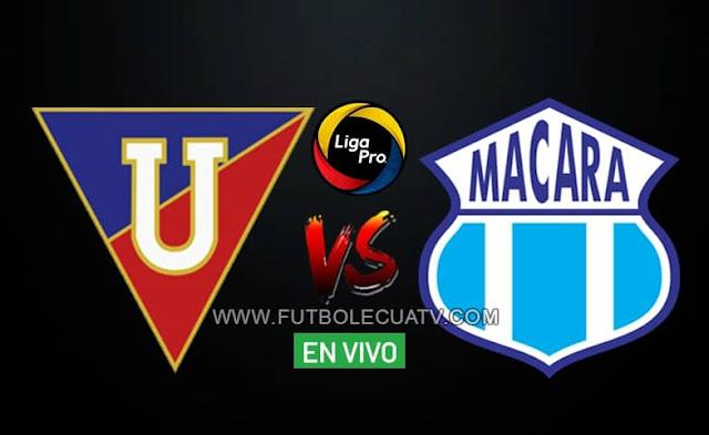 Liga de Quito recibe a Macará en vivo a partir de las 16h45 hora local, por la fecha diez en la Liga Pro, siendo emitido por GolTV Ecuador a efectuarse en el campo Rodrigo Paz Delgado. Con arbitraje del señor Marlon Vera.