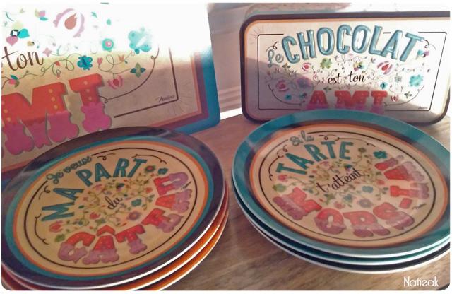 service de table Le chocolat est ton ami