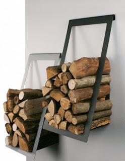 Como almacenar la leña de la chimenea dentro de casa