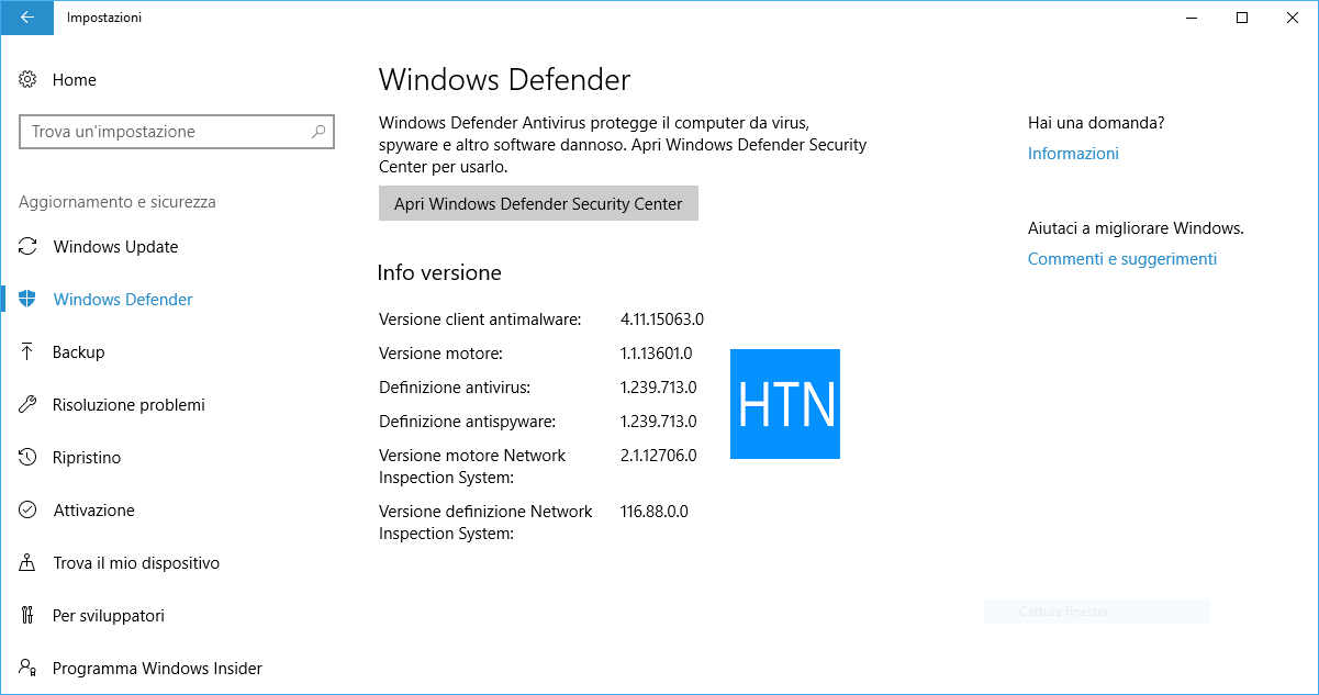 Apri-Windows-Defender