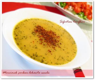 mercimek çorbası-lokanta usulü