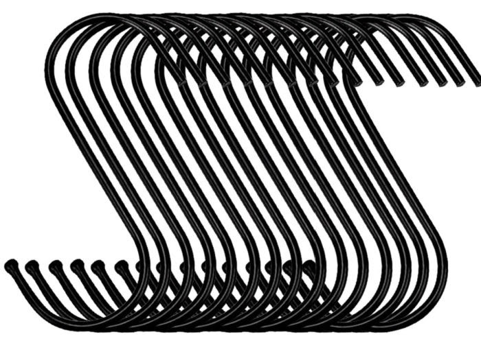 Amazon favorite products - black S hooks for hanging.