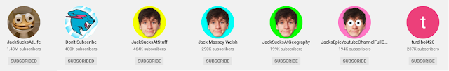 JackSucksAtLife's all YouTube channel sub count