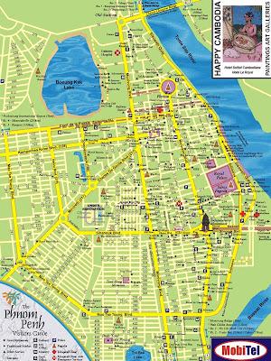 Touristische Karte von Phnom Penh