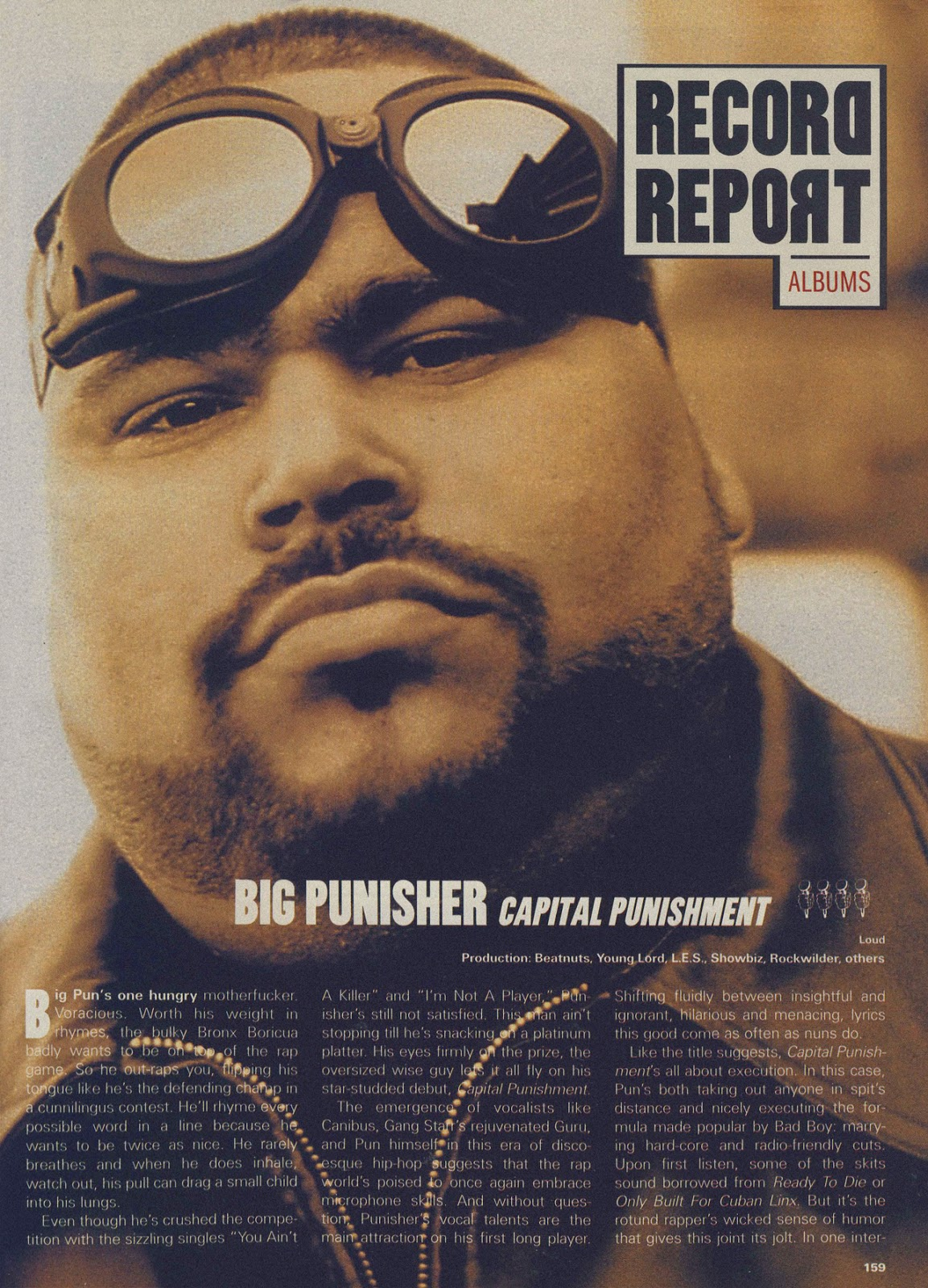 Big Pun 'Capital Punishment' (Record Report, 1998) Page 1