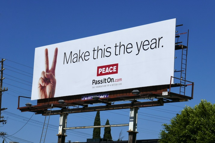 Make this the year Peace billboard