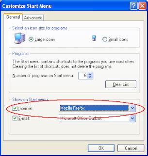 Add Firefox to start menu
