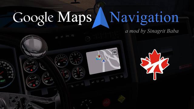sinagrit baba ats mods, ats google maps navigation for promods canada