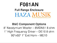 Design box spikers 8inch neo dium lengkap bersama crossofer